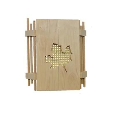 Деревянный абажур для бани «Клён»