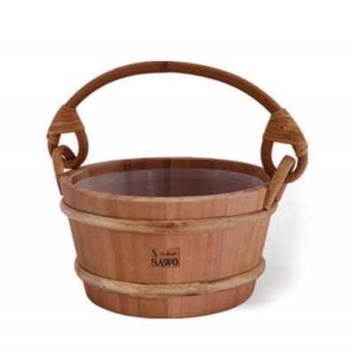 Деревянное ведро для бани или сауны SAWO 341-D 4 литра