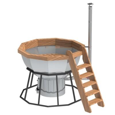 Банный чан 10 граней на подставке с печью
