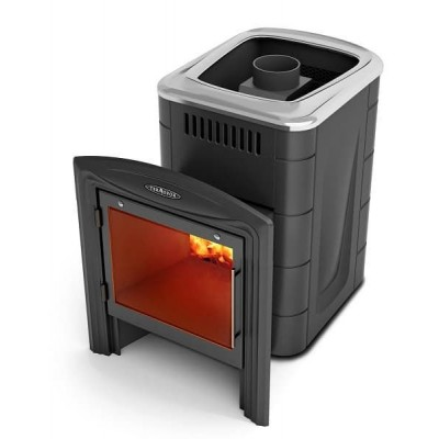 Дровяная печь для бани Термофор Компакт 2013 Carbon, Inox Витра