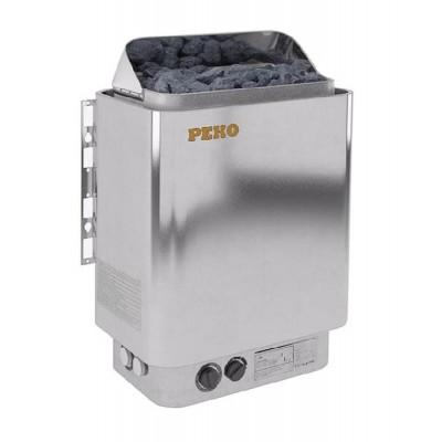 Электрическая печь для сауны PEKO EHG-80 цвет хромо-глянцевый