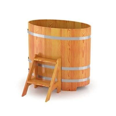 Купель для бани овальная из лиственницы