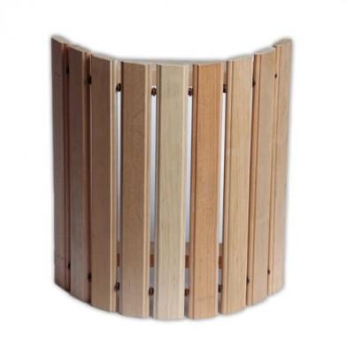 Деревянный  абажур угловой широкий ольха для бани