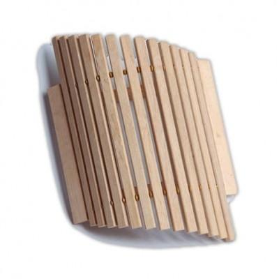 Деревянный  абажур трапециевидный для бани