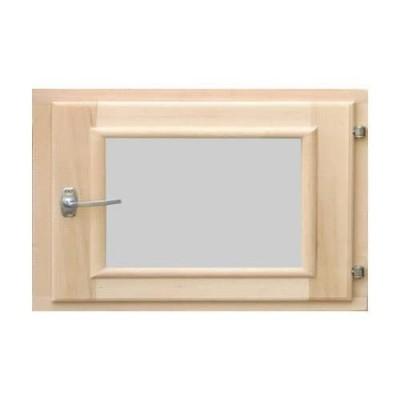 Деревянное окно для бани 400 × 500 миллиметров